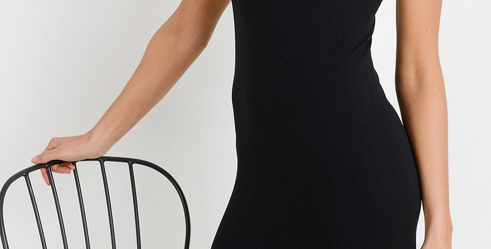 Ace Black Seamless Racerback Dress