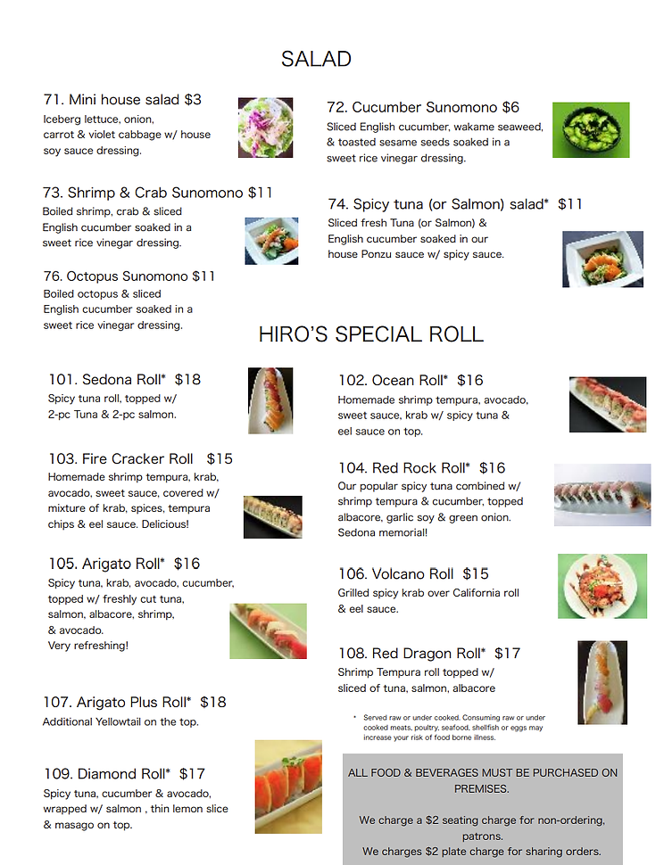 Salads and Specialty Rolls