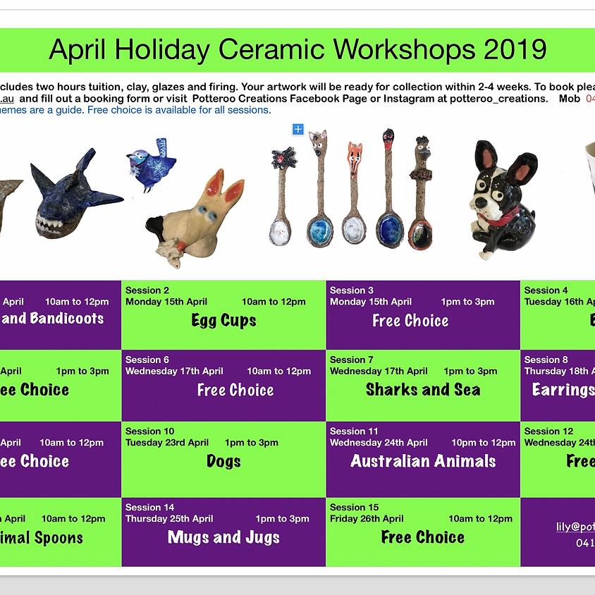 April Holiday Workshops 2019