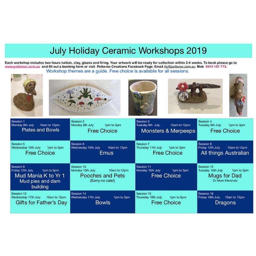 July Holiday Workshop