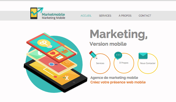 Marketing website templates – Marketing Mobile