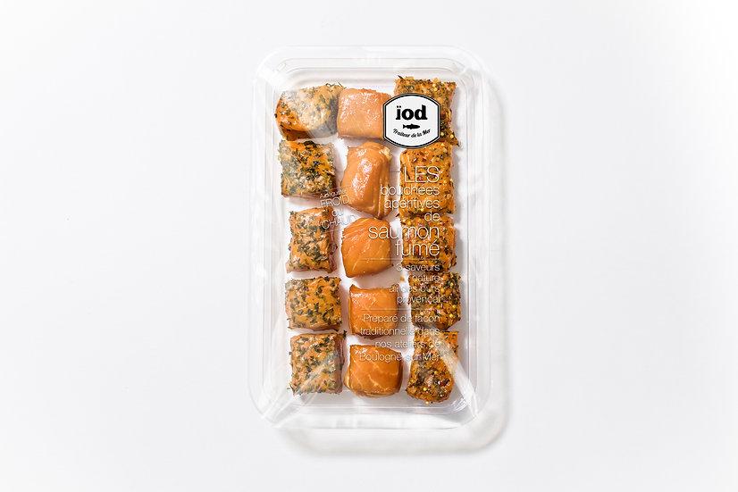 Bouchées Apéritives de saumon fumé aux 3 saveurs