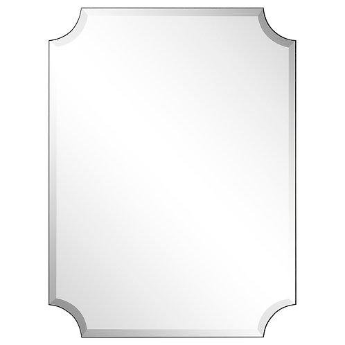 Frame-less Rectangle Scalloped Beveled Mirror- FLM-10033-3040