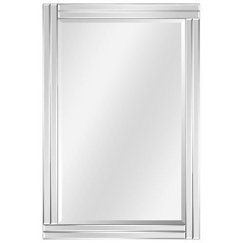 Moderno Stepped Beveled Rectangle Wall Mirror: MOM-20025H-2436