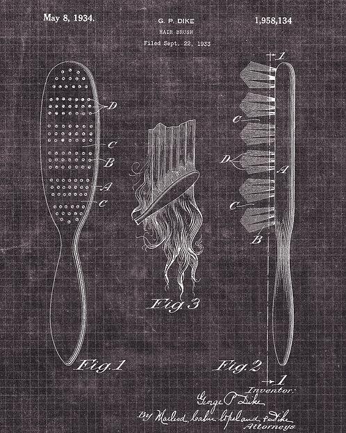 Hair Brush- GIC-PA021-2016BLK
