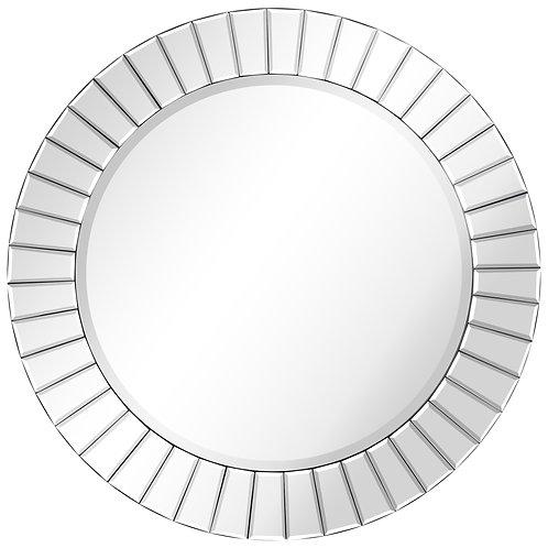 Moderno Beveled Round Wall Mirror