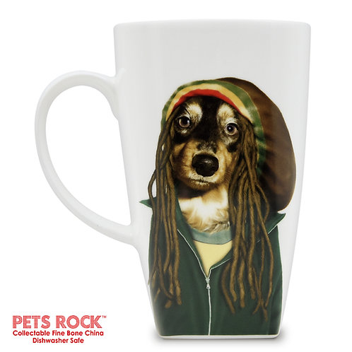 "Pets Rock™ ""Reggae"" Collectible Fine Bone China Mug: MUG-PR011-20"