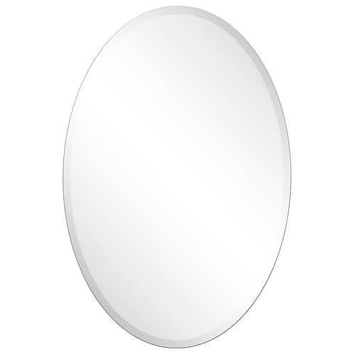 Frame-less Beveled Oval Wall Mirror- FLM-10031-2436