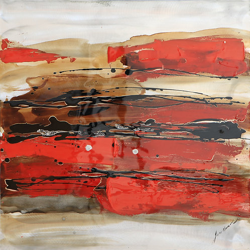 Red Abstraction 2A  by Lee Huart