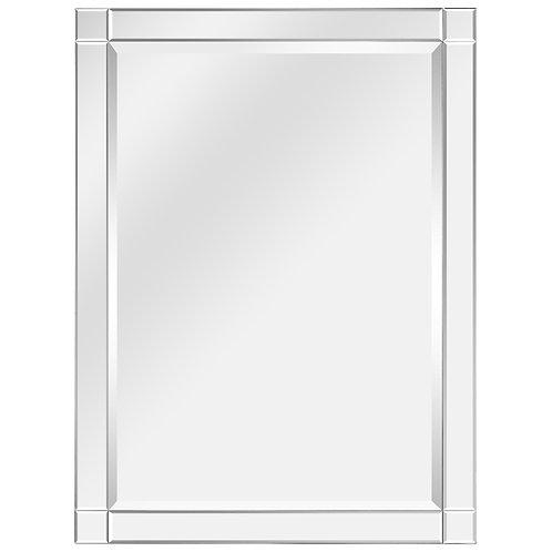 Moderno Squared Corner Beveled Rectangle Wall Mirror: MOM-20025C-3040