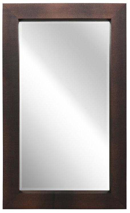 Black on Bronze Shagreen Leather Framed Mirror 80x48- ELM-8048-01GB