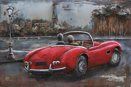 Vintage Red Convertible - PMO-F0769-4832