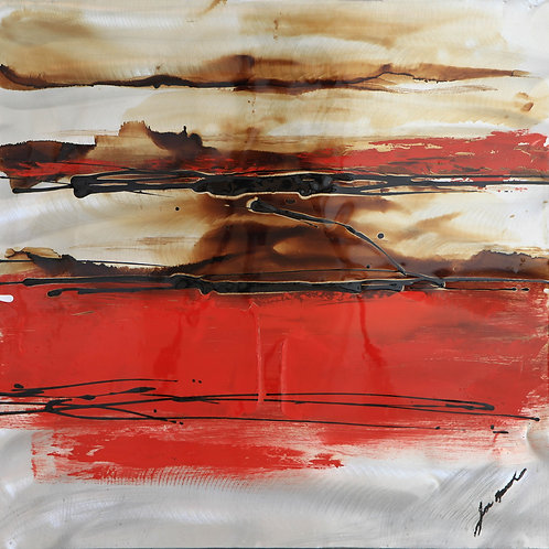 Red Abstraction 2B  by Lee Huart