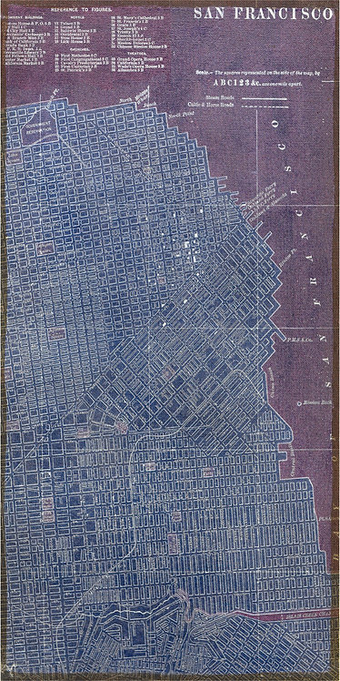 Antique Map of San Francisco - FRE-64889