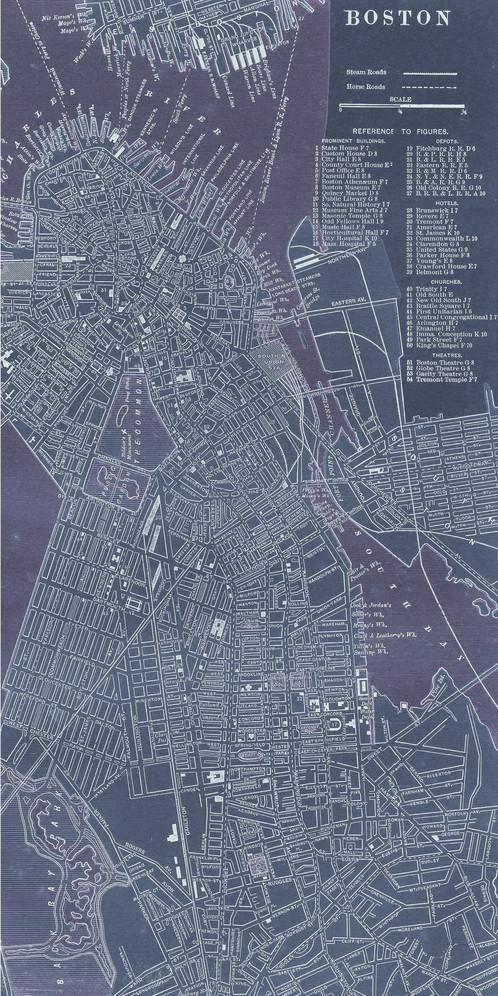 Antique Map Of Boston FRE - Antique boston map