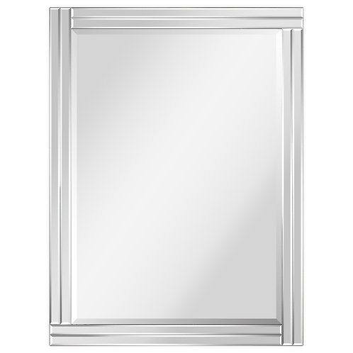 Moderno Stepped Beveled Rectangle Wall Mirror