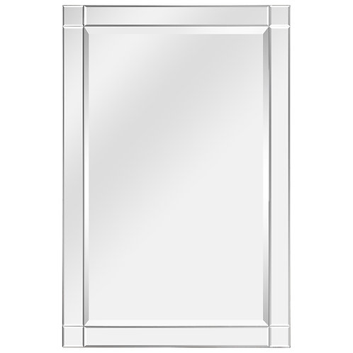 Moderno Squared Corner Beveled Rectangle Wall Mirror: MOM-20025C-2436
