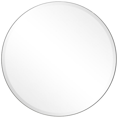 Frame-less Beveled Round Wall Mirror- FLM-10030-3030