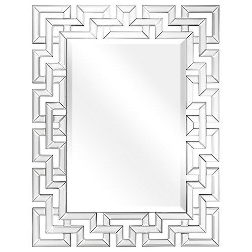 Elegant Beveled Geometry Decorative Wall Mirror- MOM-16060MM-3140