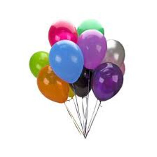 Latex Balloons single & grouped incl weight AO020