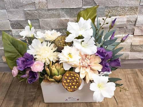 Everlasting Silk floral Ceramic arrangement