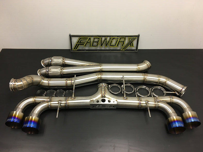 FABWORX R35 GTR GEN.2 4″ MONSTER OUTLAW EXHAUST