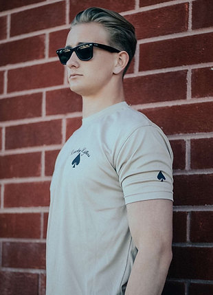 Beige w/ Black Lucky Lifters Short Sleeve