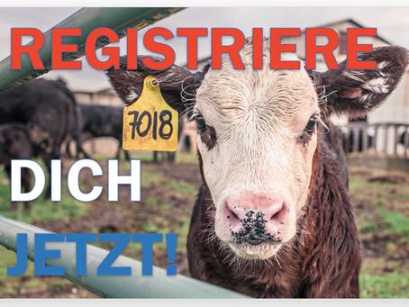 Es darf keine Tiere geben, die nicht registriert sind!