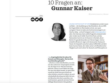 10 Fragen an Gunnar Kaiser