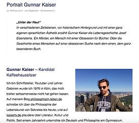Gunnar Kaiser blogbuster schriftsteller roman berlin köln