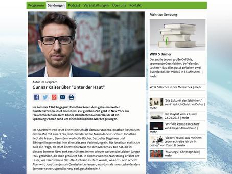 """Radiogespräch über """"Unter der Haut"""" auf WDR 5"""