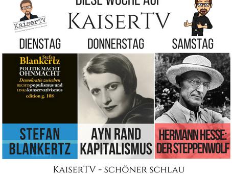 Diese Woche auf KaiserTV: Blankertz, Rand, Hesse