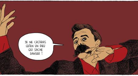 """Philosophie in Sprechblasen – """"Nietzsche"""" als Comic"""