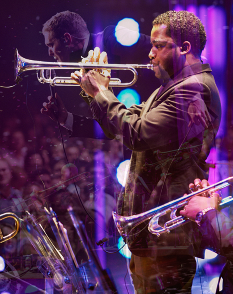 Michael Buble & The Trumpet Player