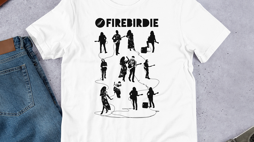 Firebirdie Electrified White Short-Sleeve Unisex T-Shirt