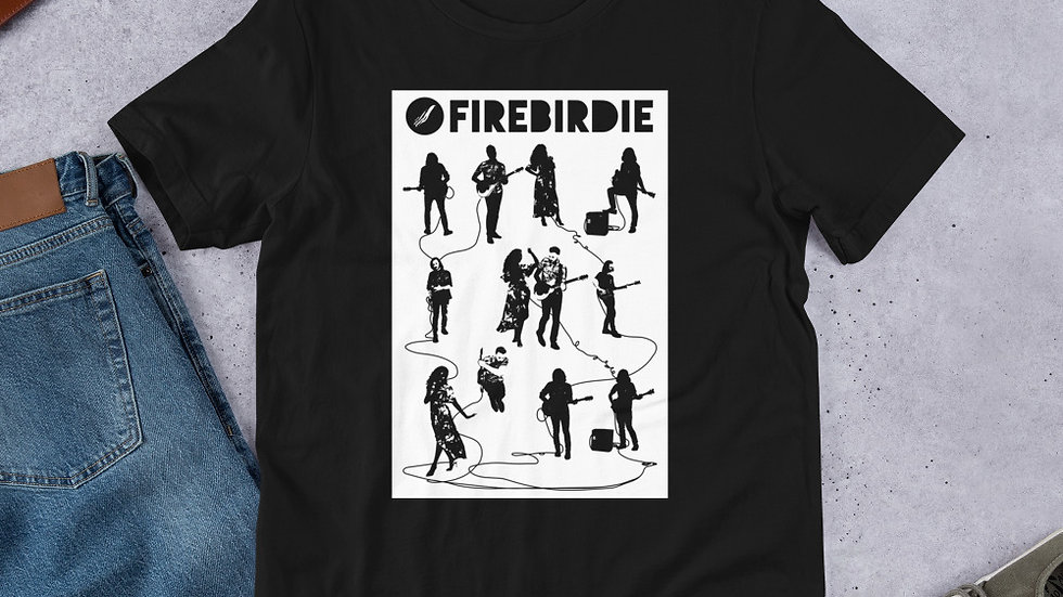 Firebirdie Electrified Black Short-Sleeve Unisex T-Shirt