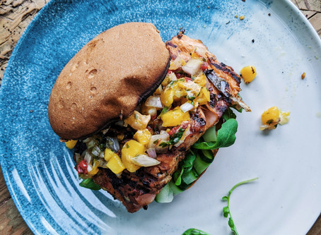 Spicy Grilled Salmon Burger