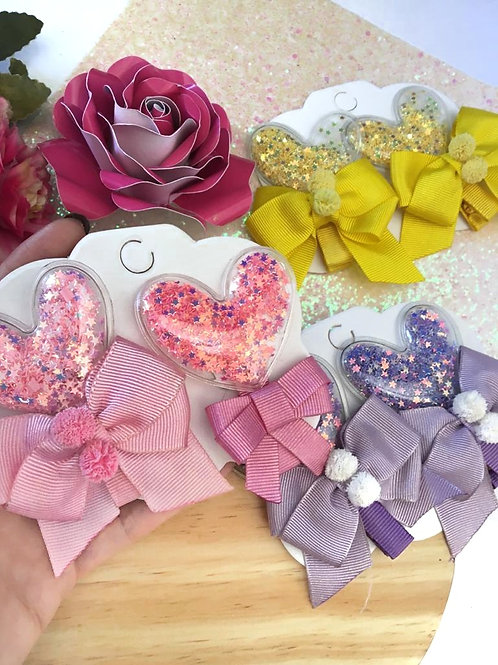 Coração Glitter Prendedor Und