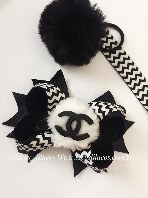 Laço preto e branco