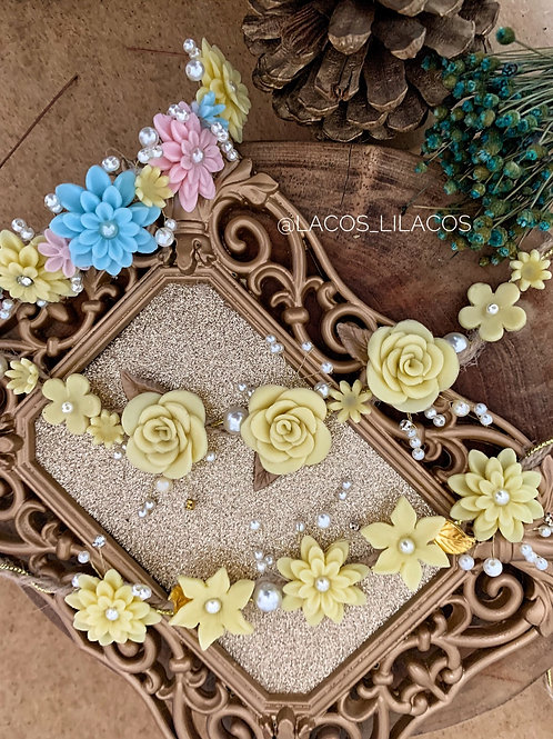 Kit tiara flores