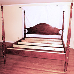 Walnut Four-Poster bed