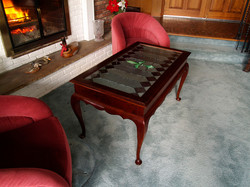 Queen Ann Stained Glass Side Table