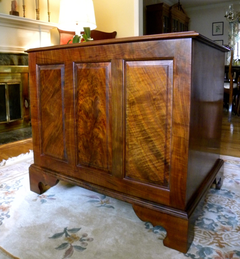Back of Walnut Dresser