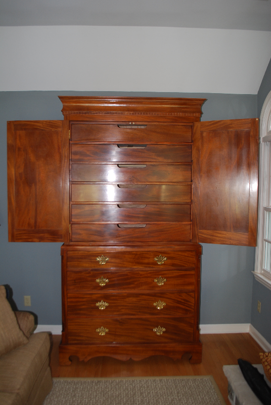 Genuine Mahogany Highboy