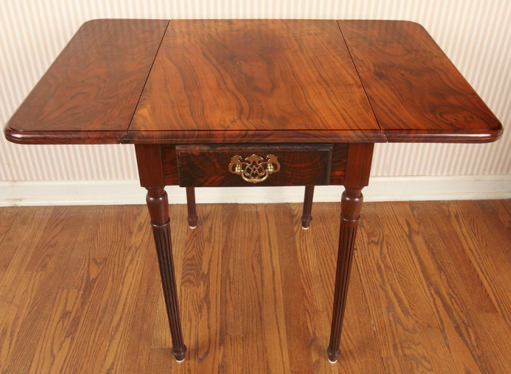 Claro Walnut Pembroke Table
