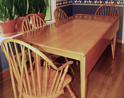 Curly Maple Drop Leaf Table & Chairs