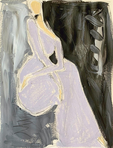 Woman in Lilac