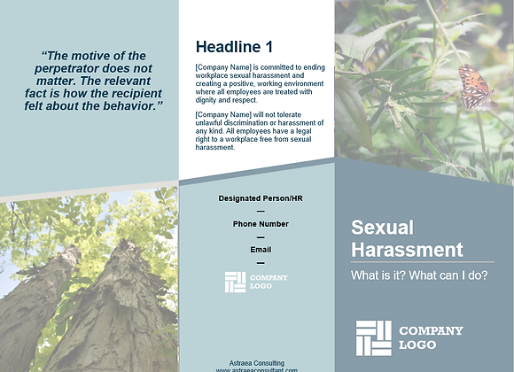 What is Sexual Harassment? Brochures For Your Business