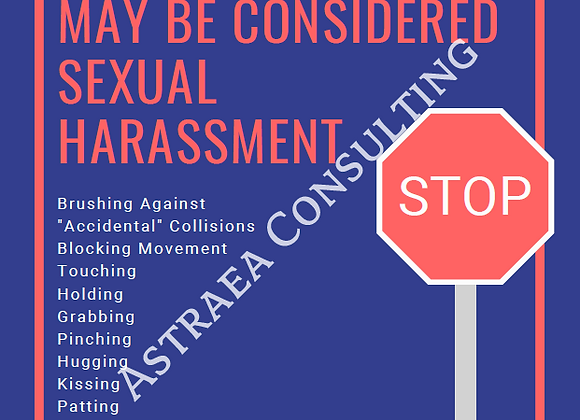 Types of Sexual Harassment Posters