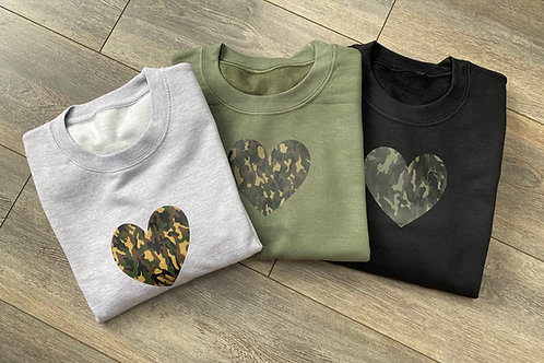 Camo Heart Sweatshirt/Hoodie